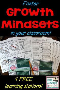 Foster Growth Mindsets with Free Learning Centers! | Upper Elementary Snapshots | Bloglovin'