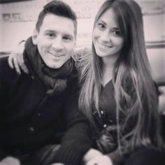 Messi and his girlfriend Antonella Messi And His Wife, God Of Football, Football Stuff, Lionel Messi Family, Antonella Roccuzzo, Leo, Argentina National Team, Fc Barcelona, The Magicians