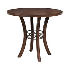 Hillsdale Furniture Cameron Wood Counter Height Table with RIght in Chestnut