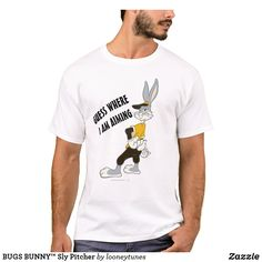 Customizable T-Shirt made by Zazzle Apparel. Looney Tunes, Bugs, Create Your Own, Fitness Models, Unisex, Casual, Sleeves, Cotton, Mens Tops