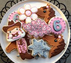 cowgirl cookies   Cute Cowgirl Sugar Cookie Collection by NotBettyCookies on Etsy