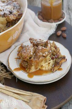 Almond Pretzel Bread Pudding