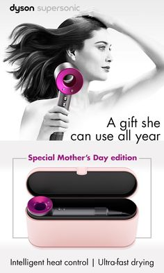 Looking for a gift that's meaningful, useful and shows mom just how much you care? The Dyson Supersonic is rethinking every function and feature of a conventional hair dryer. With ultra-fast drying, precise heat settings and magnetic attachments, this is the gift mom really wants this year.