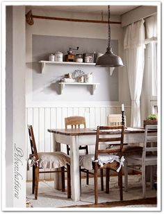Kitchen Dining, Dining Table, Home And Deco, Country Style, Home Accessories, Sweet Home, Shabby, Cottage Ideas, House Ideas