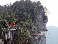 Impresionante puente de vidrio en china