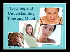 Teaching Tone and Mood - Lesson Plan and Video - someday my Pinterest will let me post to my SLP board again, sorry folks.