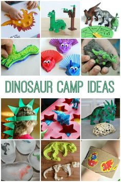 Ideas for a dinosaur camp! These activities and crafts are easy to make on your own and so much fun for little dino-lovers!