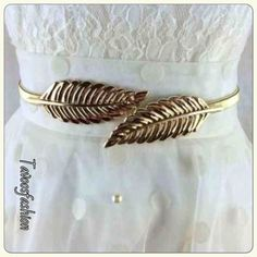 HOST PICK 7.8.15Leaf Belt Before you purchase please let me know so I could make you a new order. Look just like the pictures. This belt stretches & fits any size. Comes in silver as well. Both looks just like the pictures. Both NWOT & high quality. Both same style different colors. One is gold tone & the other is silver tone color. Both are elastic & very stretchy. Width 1cm, Length 70cm. Application size: 70-110 cm. Material: metal. Accessories Belts