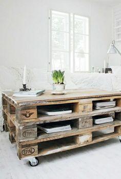 europalette möbel  tisch aus europaletten wohnzimmer gestalten wohnzimmer ideen wohnzimmer einrichten paletten tisch europalette