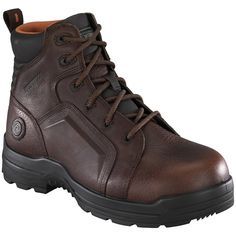 Women's Rockport Works RK664 Work Boots Brown *** Click on the image for additional details.