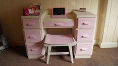 Up cycled vintage pine dresser to childs by PreeDonnRetroVintage