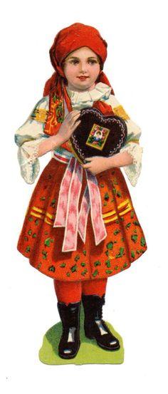 Glanzbilder - Victorian Die Cut - Victorian Scrap - Tube Victorienne - Glansbilleder - Plaatjes : Mädchen - girl - fille