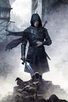 Paul Marron w/sword on @Kel_Kade's FREE THE DARKNESS by @cmcgrath72 - so cool!