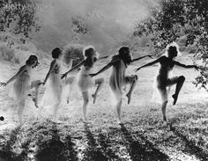 A group of women dancing in the open air, 1924