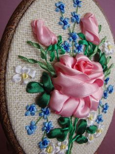 Ribbon embroidery - ellipse 005