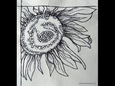 Thread Sketching in Action - No 1 - Sunflower - with Deborah Wirsu - YouTube