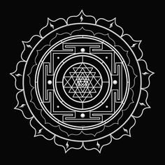 This is the Sri Yantra, one of the oldest and most powerful symbols in human history. It's the Hindu symbol for Creativity & Enlightenment. It is conceived as a place of spiritual pilgrimage. It is a representation of the cosmos at the macrocosmic level a Hindu Symbole, 4 Tattoo, Khmer Tattoo, Chakra Tattoo, Sacred Symbols, Hinduism Symbols, Mandala Symbols, Sacred Art, Tibet