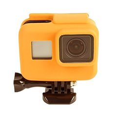 Black for DJI Gopro Action Camera Silicone Lens Cap for Xiaomi Yi//GoPro Hero4 // 3+ // 3 Color : Orange