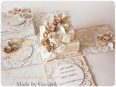 Wedding Boxes, Wedding Cards, Box Cards Tutorial, Exploding Box Card, Pop Up Box Cards, Magic Box, Altered Boxes, Fun Fold Cards, Pretty Box