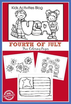 This series of 7 Fourth of July Coloring Pages are the perfect quiet holiday activity for kids celebrating the of July. This series of 7 Fourth of July Coloring Pages are the perfect quiet holiday activity for kids celebrating the of July. Coloring Pages To Print, Free Coloring Pages, Printable Coloring Pages, Coloring For Kids, Coloring Sheets, Fairy Coloring, Coloring Books, Fourth Of July Crafts For Kids, Holiday Activities For Kids