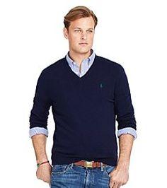 Polo Ralph Lauren® Men's Big & Tall Merino V-Neck Sweater