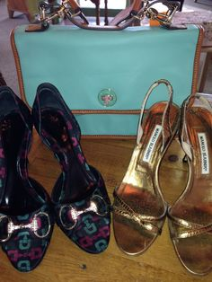 Isaac Mizrahi, Gucci and Manolo Blahnik...just in! #IsaacMizrahi #Gucci #ManoloBlahnik