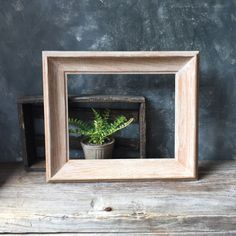 Bleached Wood Picture Frame: Mid Century Modern Wood Frame, Vintage Cottage Chic Frame, Home Decor, Wedding Decor, Nursery Decor by Untried on Etsy