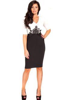 1fd0cb3b69 black   white pencil dress classic! Jessica Wright Dresses