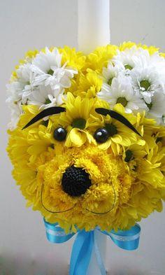 animal shaped floral arrangements pinterest | flower arrangement, bear shape