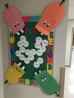 Hungry Hungry Hippo bulletin board