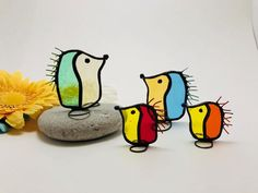 Scrappy Hedgehog – Small – Stained Glass Hedgehog - All About Stained Glass Ornaments, Stained Glass Birds, Stained Glass Suncatchers, Faux Stained Glass, Stained Glass Lamps, Stained Glass Designs, Stained Glass Panels, Stained Glass Projects, Stained Glass Patterns