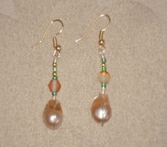 baroque freshwater pearl gold SHIP FREE by MermaidMiss on Etsy, $18.00