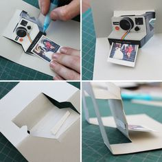 Pop Goes the DIY Pop-Up Name Card.. polaroid pop up card tutorial and a few others. Very neat.
