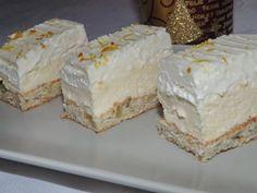 INGREDIENTE: BLATURI: 1 ou 5 linguri apa rece 5 linguri ulei lingurite amoniac dizolvat intr-o lingura de otet zahar pudra faina UMPLUTURA: lapte zahar 1 Hungarian Desserts, Romanian Desserts, Romanian Food, Torte Cake, Cake Bars, Just Desserts, Delicious Desserts, Yummy Food, Just Cakes