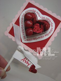 Valentine Class Treats with the Heart Sweet Treat Cups & Sweetheart stamp set. By Meg Loven -- www.LovenStamps.com/blog  @Cathy McGaughey & @Jane Faust