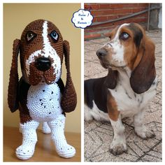 Amigurumi Basset Hound Rufus That is so life-like! Crochet Amigurumi, Amigurumi Doll, Amigurumi Patterns, Crochet Dolls, Crochet Patterns, Diy Crafts Crochet, Cute Crochet, Crochet Baby, Crochet Mobile