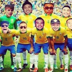 In honor of the world cup  perfffff team rigght here ♥ hahahahaha