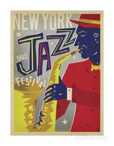 NY Jazz Fest Art Print