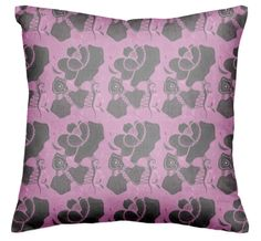Checkout this design on Pink Pillows, Throw Pillows, Designer Pillow, Luxury, Collection, Black, Toss Pillows, Cushions, Black People