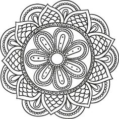 line drawing mandala Pattern Coloring Pages, Mandala Coloring Pages, Free Printable Coloring Pages, Coloring Book Pages, Mandala Pattern, Zentangle Patterns, Mandala Design, Doodles Zentangles, Mandala Drawing