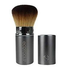 EcoTools Retractable Kabuki Travel Foundation Brush for Blush Bronzer & Powder (Color may vary) Eye Makeup Brushes, It Cosmetics Brushes, Makeup Brush Set, Best Powder Foundation, Foundation Brush, Travel Size Makeup, Vegan Makeup, Blush Brush, I Love Makeup