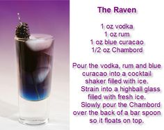 The Raven #Raven #Cocktail #Vodka #Rum
