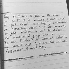25 vind-ik-leuks, 8 reacties - Tanja de Bie (@tanjadebie) op Instagram: '#doittoday I do hate phone calls, but postponing it all week, dealing with it all week, is a waste…'