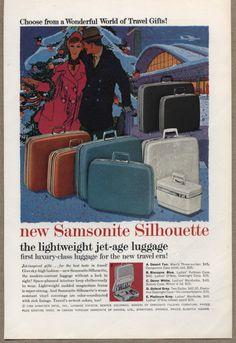 1959 Vintage Ad Samsonite Silhouette Jet-Age Luggage Suitcase