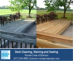 http://branson.renewcrewclean.com – This beautiful backyard deck is even more enjoyable after a deck cleaning by Renew Crew of Branson. Our 3-step process cleans and protects your deck making it look like new. We serve Branson plus Stone and Taney Counties. Free estimates.