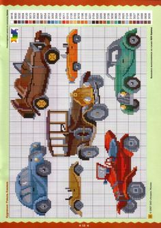 Cross stitch patterns for cars