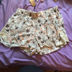 Francesca's shorts NWT Floral shorts with lace detail on the side. Soft material. Price is negotiable Francesca's Collections Shorts