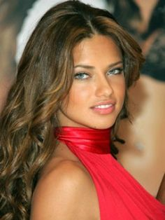 Makeup for Tan Skin, Brown Hair, and Blue Eyes. Supermodel Adriana Lima's Makeup