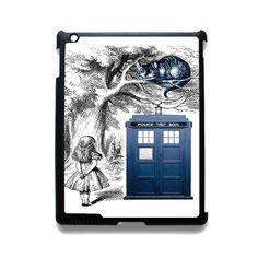 Alice In Wonderland Ceshire Cat Police Box Us TATUM-513 Apple Phonecase Cover For Ipad 2/3/4, Ipad Mini 2/3/4, Ipad Air, Ipad Air 2