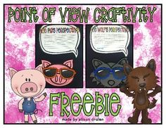 This is a great freebie to use when learning about perspective/point of view! After reading both stories (The Three Little Pigs and The True Story of the Three Little Pigs) we discussed what perspective/point of view is and its significance in stories.